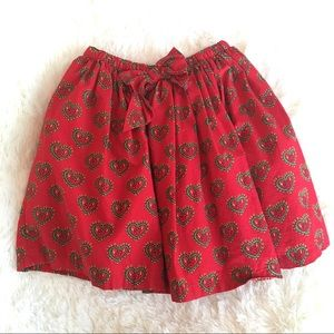 Hanna Andersson Red Valentine Heart Skirt